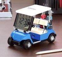 50ps/ctn house golf car clock led fashion clock gift 26kg/ctn 46*70*70cm/ctn blue red yellow green white Built in button battery