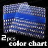 Freeshipping-2PCS 120 Grid Nail Art Display Chart for Polish Gel Display Tool [Retail] SKU:F0029X