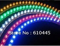 Free shipping wholesale 24cm PVC flexible LED strip light waterproof LED car decoration light led car lights 1 year Warranty