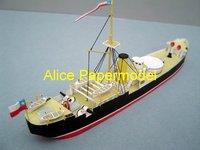 [Alice papermodel] Long 25CM WWI ironclad battleship warship models
