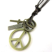 Z2267-free shipping wholesale men's peace necklace