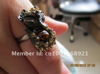 Europe and the United States of big full mouth drill fox ring-10PCS__ Free Shipping