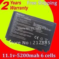 Laptop Battery For ASUS F52 F82 F83S K40 K40E K40IJ K40IN K50 K50AB-X2A K50ij K50IN K51 K60 K61 K6C11 A32-F52 A32-F82 L0690L6
