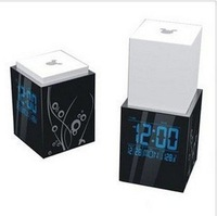 8 pieces/ctn new-style house novelty touching up and down bedside lamp led clock 15kg/ctn AAA*2 (not include) or 5V DC adapter