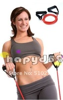 yoga resistance band tube exercise training fitness equipment 1.35m free ship