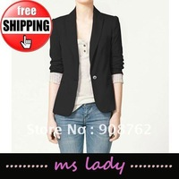 Free shipping WOMAN SUIT BLAZER FOLDABLE SLEEVES COAT HK airmail