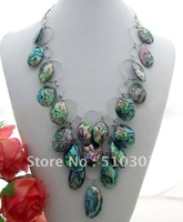 Great! Natural 25x15MM Abalone Shell Necklace