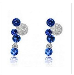 CE27 Factory Price Crystal Pendant Earrings Fashion Crystal Ladies/Girls Drop Earring S07.6(China (Mainland))