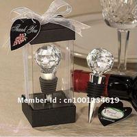 Crystal Golf Ball Shape Wine Bottle Stopper Bomboniere Hot Wedding Gift