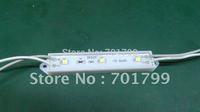 3pcs 3528 SMD LED module,with plastic case,GREEN color,DC12V,20pcs a string