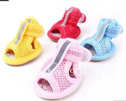 Pet Dog summer Gridding Shoes, Anti-skidding, cool, Wholesale Free Shipping(China (Mainland))