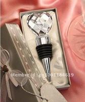 Love Heart-shaped crystal wine bottle stopper, Popular Wedding Favor