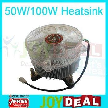Freeshipping! 50W or 100W High Power LED Light Cooling Fan Aluminium Heatsink