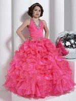 Christmas Pink Flower Girl Dress Girl Skirt Princess Skirt Party Skirt Pageant Skirt Custom SZ 2 4 6 8 10 12 14 JL708060