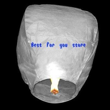 Free shipping 20 SKY Lanterns Kongming Light Flying Wishing Lamp white BIRTHDAY WEDDING PARTY nice gift