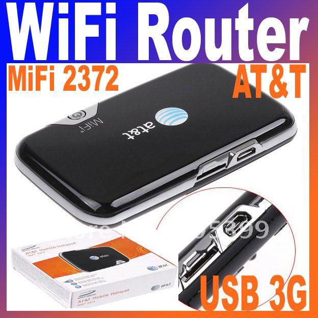AT&T Novatel MiFi 2372 Wireless Mobile Hotspot USB 3G Network WiFi Router Free Shipping(China (Mainland))