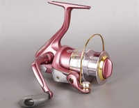 Free shipping, VIVA AK3500 Spinning Fishing Reel 4BB, Pink color