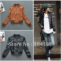 Free shipping!2012 new arrival autumn  women's slim outerwear women's short design jacket motorcycle nubuck leather clothing