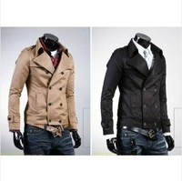 NWT Men Slim Fit Double Breasted Stylish Luxury  Short Coat