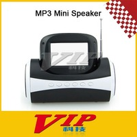 Poratable Mini MP3 Speaker  With FM Radio,Free Shipping