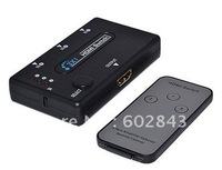 AUTO IR REMOTE 3 PORT HDMI SWITCH SWITCHER SPLITTER 3D HUB