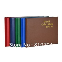 192 openings-Hard cover Mixed sizes coin album/coin collection book /cion stock book/coin holder retail Free Shipping