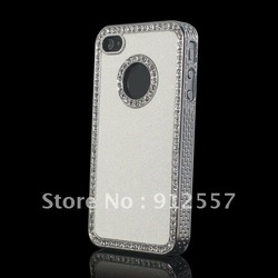 For Apple iphone 4 4G 4S Luxury Bling Diamond Rhinestone Hard Case Cover +free shipping+100% quality guarantee(China (Mainland))