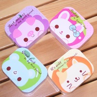 wholesale  12Pcs/ Contact Lenses Box  Cute Cartoon  Eyewear Cases & Bags Glasses