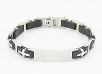 Free shipping stainless steel bracelets jewellery wholesale fashion nice steel bracelet for man Hight quality