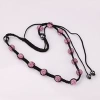 New Arrived Shamballa Crystal Necklace, Wholesale Europe Style DIY Shamballa Necklace  SN005