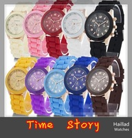 Wholesale 100pcs/lot Free Shipping via DHL/EMS/UPS,Good Quality unisex GENEVA Watch Men