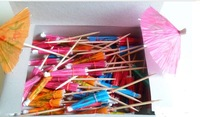 Free shipping - 1200pcs handmade paper umbrella, party decoration,fruit fork/cocktail decoration,artistical umbrella