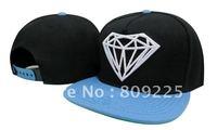 Diamond snapback hat black blue cap supply top quality Free shipping cheap price