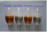 Gold Silver color   7 W  LED Lamp  ----Free shipping