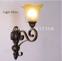 Free shipping ! classic hall/ aisle/ Stairs passage/Aisle stairs antique wall lamps with glass & iron design .