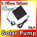 Solar Powered Water Pump Panel Pool Pond Fountain Pool Garden Plants Watering 3pcs/lot