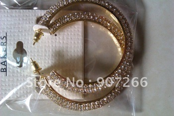 wholesale-2012 fashion gold /silver hoop earrings basket wives diamond earrings