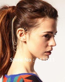 Min.order $10(mix order)Punk Style Tassel personality Ear Cuff Earrings vintage Jewelry Free Shipping SPX0502