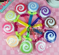 Teachers' Day / Wedding / Christmas / couples supplies cake towel / double color lollipop! 10pcs/lot Free Shipping!