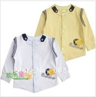 Children's clothes 2012 spring of yellow ducklings super handsome boy long sleeve cardigan T-shirt with children