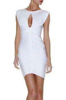 Noble Sexy Women's Black White Keyhole Bandage Dresses Celebrity Dress Party Evening Dresses Wholesale Best Selling HL0831-1