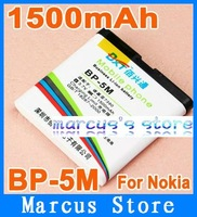 HK post Free shipping 1500mAh BP-5M Battery For Nokia 7390 5610XM 6500s 6110c 6200c 7379 8600 Luna without retial package