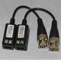 2pc CCTV Camera Passive Video Balun BNC Connector Cat5 UTP Coaxial Cable 202LA
