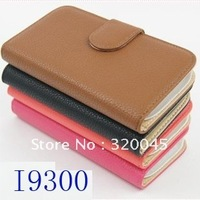 Litchi pattern Case for Samsung GALAXY S3 i9300 leather phone case
