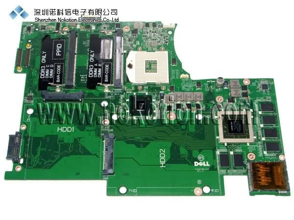 on sale laptop Motherboard for dell L702X Intel JJVYM DAGM7MB1AE0 50%off shipping 100% test(China (Mainland))