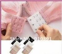 Freeshipping 3lines metal bra extender hooks clip,adjustable belt bra buckle,extendable bra clasp for ladies underwear accessory
