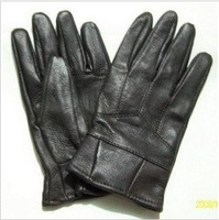 Men's pu Leather Soft Firm Durable Liner Flannel Gloves