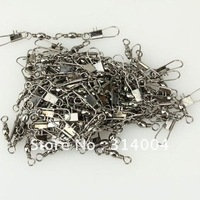 500pcs 6#/7#/8#/#12/+B Stainless Steel Barrel Bearing Rolling Swivel With Interlock Snap Fishing Line Connector