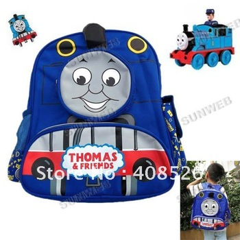 Fashion Children's Cartoon Thomas The Tank Engine School Bag Rucksack Backpack Shoulder Bag Free Shipping 4353
