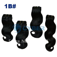 "109"" Wide Wavy Human Hair Weft/Extensions Wavy Hair 4 Size 1B#"